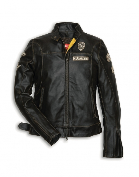 ducati historical lederjacke damen braun vintage retro neu ebay. Black Bedroom Furniture Sets. Home Design Ideas