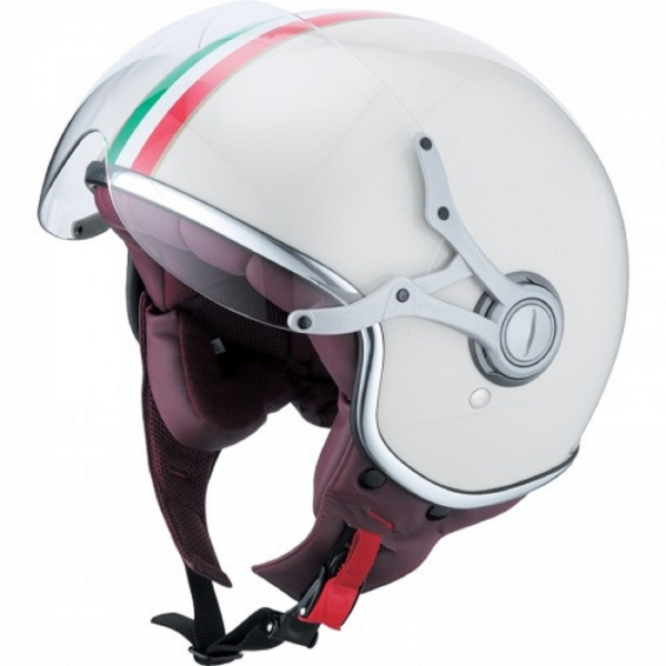 ixs casque hx 139 blanc vert rouge italie style r tro casque de moto vespa neuf ebay. Black Bedroom Furniture Sets. Home Design Ideas